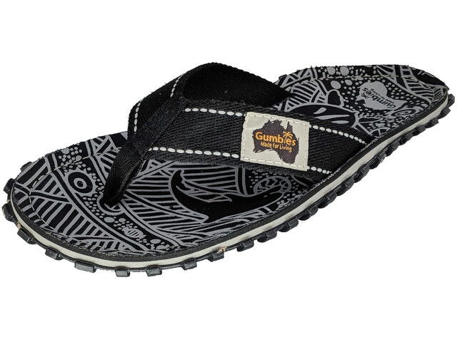 GUMBIES Islander Claquettes, black nature